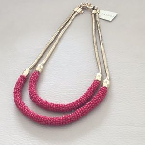 NWT. Talbots rose & gold tone two strand Necklace